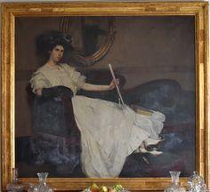 "Maurice Molarsky (1885-1950), ""Portrait of Elsie Barrows Earle,"" oil on canvas, c. 1908."