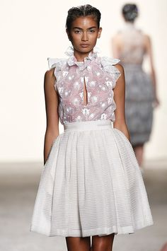 Honor Spring 2013: High Collars, Lace, Pretty Spring Colors | StyleCaster