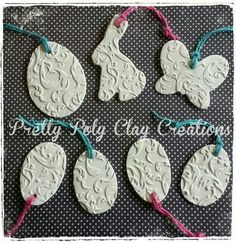 Easter Tags - Pretty Poly Clay Creations by Angie Sarver