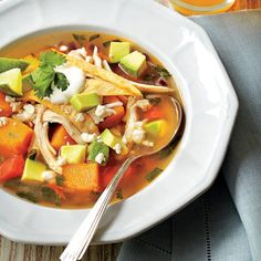 Butternut Squash Tortilla Soup - Easy Soup and Stew Recipes - Southern Living