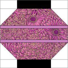 oriental quilt patterns - free | 12 Inch Chinese Lanterns Quilt Block Pattern