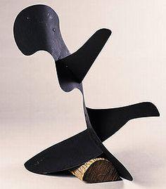 """Calder, Little Fish [maquette], 1936  Sheet metal and paint, 35"""" x 31""""  Princeton University Art Museum"""