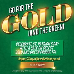 Go for the Gold (and Green ) with a St. Paddy's Day Sale! Want to make Your St. Patrick's Day. Posh Products, Pot Of Gold, Shop Now, Conditioner, How To Apply, Make It Yourself, Green