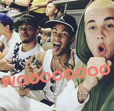Lewis Hamilton, Neymar Jr & Justin Bieber three cutie pies in one pic