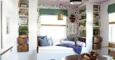 Bedroom: House Homemade: Built In Daybed With Ikea Bookshelves Inside Chic Built In Daybed With Storage For Your Home Decor Ikea Billy Bookcase, Bookshelves, Billy Ikea, Diy Storage Cabinets, Tv Storage, Record Storage, Built In Daybed, Reading Nook Kids, Up House