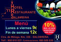 Descuentos en HOTEL RESTAURANTE SALAMBINA ¡¡DALE LA VUELTA AL TICKET!! del DIA% en Salobreña.