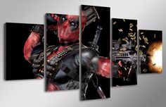 Own this amazing Marvel Comics Deadpool Superhero wall canvas today we will ship the canvas for free. This is the perfect centerpiece for your home. It is easy to assemble and hang the panels together which makes this a great gift for your loved ones.  This painting is printed not handpainted and is ready to hang! We have 2 options for this canvas -- Size 1: (20x35cmx2pcs, 20x45cmx2pcs, 20x55cmx1pc) Size 2: (30x50cmx2pcs, 30x70cmx2pcs, 30x80cmx1pc) Limited quantities left…