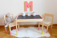Here we take a look at 9 different IKEA hacks to help you pimp up the IKEA LATT children's table and chair set.