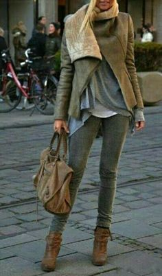 This is a great color for fall.  I love the texture on the flap of the jacket
