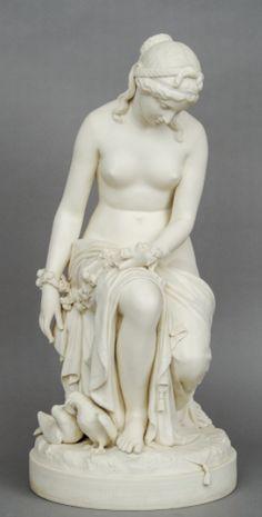 Estatua em Parian do sec.19th, assinado e marcado, 65cm de altura, 6,150 USD / 5,520 EUROS / 23,640 REAIS / 39,160 CHINESE YUAN https://soulcariocantiques.tictail.com