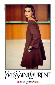 1991 - Yves Saint Laurent Rive Gauche adv - Yasmin Le Bon by Arthur Elgort