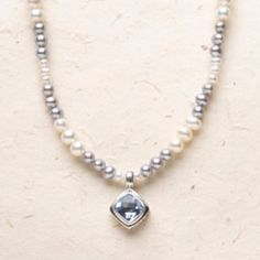 So elegant- Simply Good Design. Bali Scroll Blue Quartz Pearl Beaded necklace. $149.96. Add this to your wish list at my website and email to your Valentine. Karenallison.jewelry.willowhouse.com