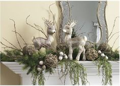 perfectlyfestive | Mantle Displays  Various mantle displays including the items and # needed to recreate it at home.