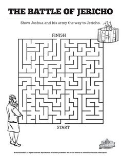 Walls of Jericho Bible Mazes: With just enough challenge to make it fun, these walls of Jericho Bible mazes are a great complement to your Joshua 6 Walls of Jericho Sunday school lesson.