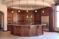 Love the rounded island! This could be my parents dream kitchen