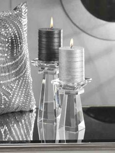 Silver and Black Candles