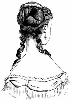 I think I'd want the large barrel curl on only one side though http://karenswhimsy.com/victorian-hair-styles.shtm