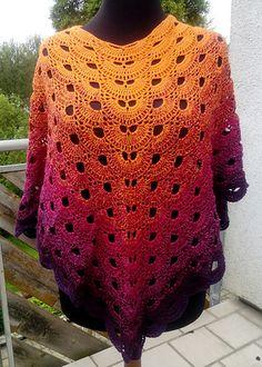 Ravelry: Vironcho - free crochet virus poncho pattern by Renate Schattschneider. In English and German.