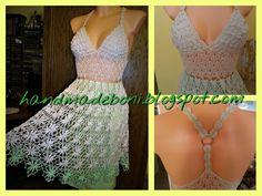 HandmadeBoni: Szydełkowa sukienka na ramiączkach. Zrób razem ze ...