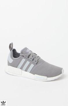 buy popular c6a9c b927e NMDR1 Grey White Shoes Adidas Nmd R1, Adidas Cap, Adidas Grey Shoes, Adidas