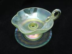 LOETZ RUFFLE CUP AND SAUCER C.1920 ... Wow! I'd love to sip Jasmine tea out of this one. #theteabuds Coffee Cups And Saucers, Cup And Saucer, Victorian Tea Party, Turkish Coffee Cups, Jasmine Tea, Glass Tea Cups, Kitchenware, Tableware, Vintage Cups