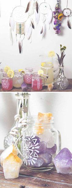 Decorated Mason Jar | 24 DIY Wedding Favor Ideas
