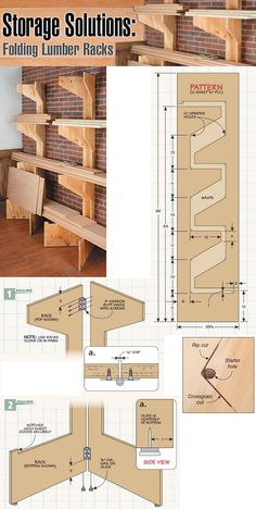 ❧ Storage Solution: Folding Lumber Racks