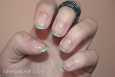 Turquoise French Manicure    by AinaMakeup