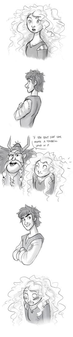 Mericcup. Hahaha! This is so stinkin' adorable! Although I imagine Hiccup would be just as awkward too.