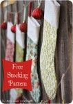 The perfect simple Christmas Stockings pattern to sew.