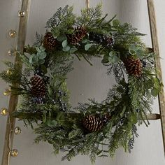 Buy Ultimate Eucalyptus & Winterberry Wreath - from The White Company Christmas Decorations Online, Christmas Themes, Christmas Wreaths, Holiday Decor, Holiday Ideas, Days Before Christmas, Wreaths And Garlands, The White Company, White Christmas