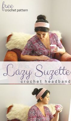 Lazy Suzette Headband Pattern • Salty Pearl Crochet Ladies, this simple and feel-good DIY headband may go handy on your most active week! Stitch and knit for a pretty headband like this! Go check it out! #cute #yarn #easypattern