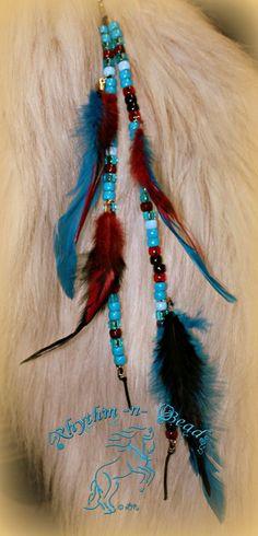 Feathers n' Flair Mane Dangle - Heart n Soul  NEW!- www.facebook.com/rhythmbeads