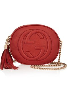 Gucci | Soho textured-leather shoulder bag | NET-A-PORTER.COM