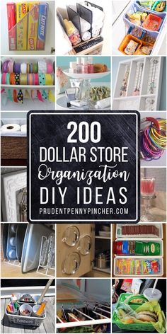 Get organized for less with these dollar store organization ideas. There are easy DIY organization ideas for your whole home including bedroom, closet, kitchen and bathroom.