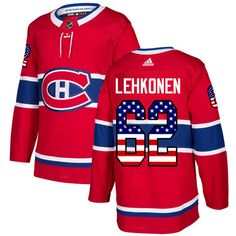 507816cd3 Adidas Canadiens  62 Artturi Lehkonen Red Home Authentic USA Flag Stitched  NHL Jersey Petry