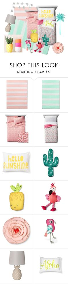 """Tropical  Brights Bedroom"" by thegoldensage on Polyvore featuring interior, interiors, interior design, home, home decor, interior decorating, Pillowfort and bedroom"