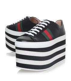 Gucci Peggy Platform Sneakers | Harrods.com