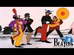 The Beatles - Yellow Submarine Video from 1968 - Movie HD - Lyrics - YouTube