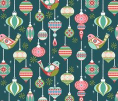 Spoonflower Design Challenge voting: Commonthread vintage christmas - finals