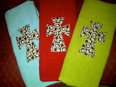Kitchen Towel with Cross Applique