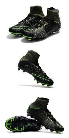 newest 51d41 6a836 Crampons Nike Hypervenom Phantom III Dynamic Fit FG - Noir Vert