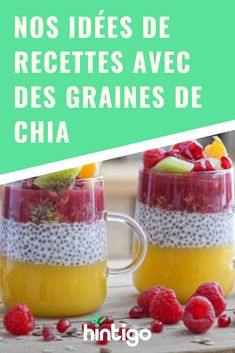Our recipe ideas with chia seeds - Our recipe ideas with chia seeds Chia seeds are the latest superfood! Vegan Dessert Recipes, Diet Recipes, Healthy Recipes, Desserts, Superfood Recipes, Sixpack Training, Chia Seeds, Healthy Drinks, Brunch
