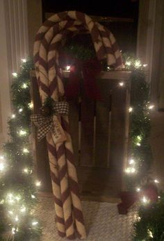 Over sized candy canes