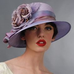 Lovely hat for a summer, although the model is probably a winter, and she is not flattered by the hat.