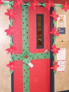 Festive December hallway decorations