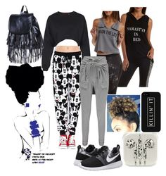 Morning Class by ashleyj9413 on Polyvore featuring polyvore, moda, style, Charlotte Russe, Boohoo and NIKE
