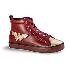 Wonder Woman Metallic Hi-Top Sneakers | ThinkGeek