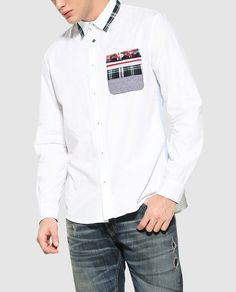 Plain White Shirt, White Shirts, Red Tape, Formal Shirts, Polo T Shirts, Blouse Designs, Chef Jackets, Menswear, Couture