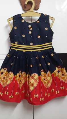 Kids Outfits Girls, Cute Outfits For Kids, Cute Kids, Girls Blue Dress, Blue Dresses, Summer Dresses, Cotton Frocks, Frock Fashion, Boy Or Girl